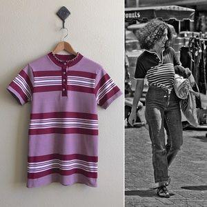 '60s / Wine Stripe Top